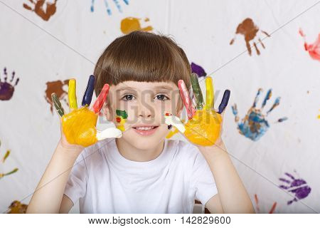 Boy Is Painting Something.