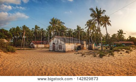 Small Fisherman's Village near Kalpitiya, Sri Lanka