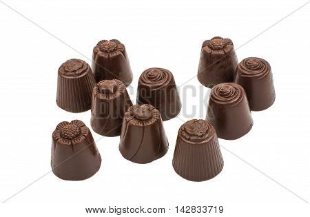 chocolate candy bonbon on a white background