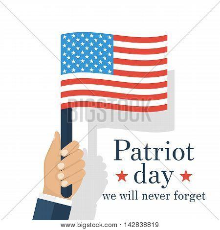 American Flag In Hands Patriotic