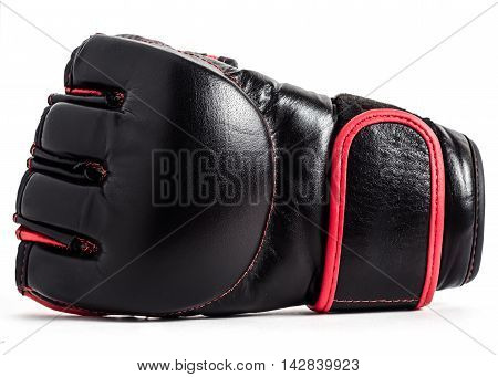 Gloves for MMA leather on white background