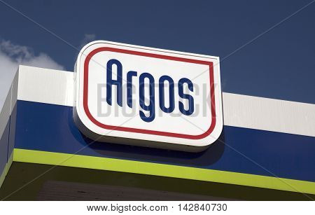 Amsterdam Netherlands-august 15 2016: sign of the argos oil company