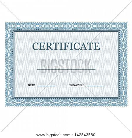 blank classic certificate decorative vector