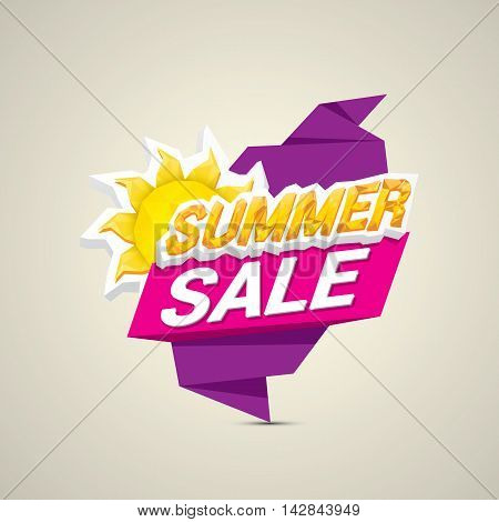 vector summer sale label or sticker. summer clearance.
