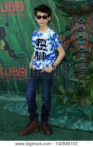 LOS ANGELES - AUG 14:  Aidan Gallagher at the