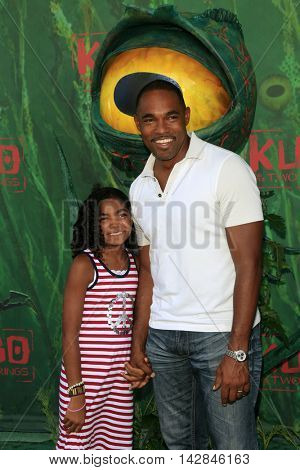 LOS ANGELES - AUG 14:  daughter, Jason George at the