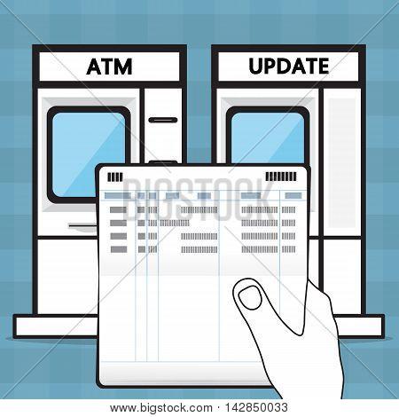 update a passbook. vector design for business