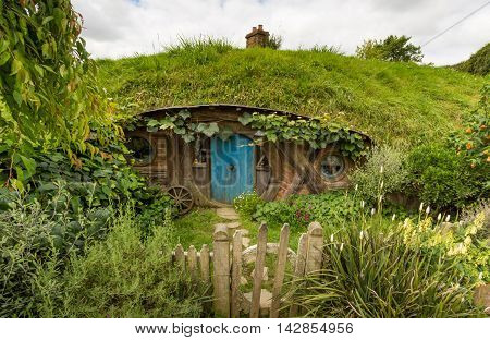 HOBBITON home of the HOBBIT movie and LORD OF THE RINGS 2016 on FEBRUARY 04 2016 in Matamata New Zealand 2016