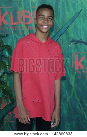 LOS ANGELES - AUG 14: Terrell Ransom Jr at the premiere of Focus Features' 'Kubo and the Two Strings' at AMC Universal City Walk on August 14, 2016 in Los Angeles, California