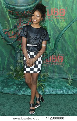 LOS ANGELES - AUG 14: Riele Downs at the premiere of Focus Features' 'Kubo and the Two Strings' at AMC Universal City Walk on August 14, 2016 in Los Angeles, California