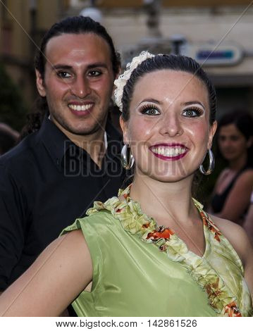 QUARTU S.E., ITALY - July 13, 2013: International Festival of folklore