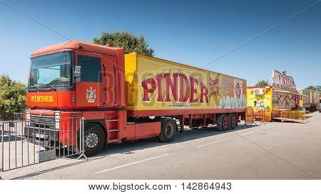 Big Truck Of Circus Pinder