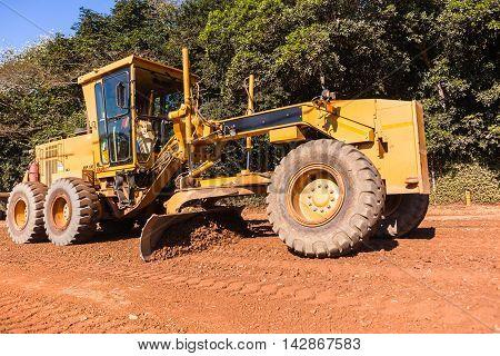 Grader Road Construction