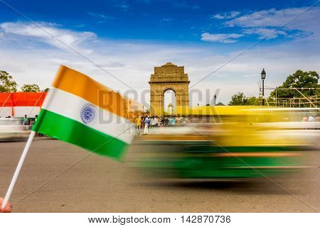 Motion Blurr at India Gate in Delhi