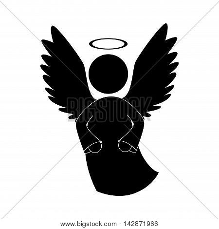 angel heaven halo wing  vector  isolated illustration