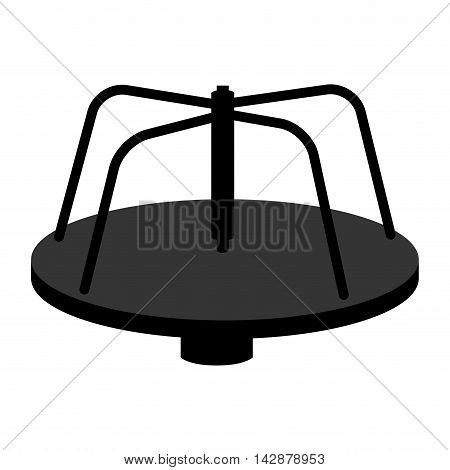 roundabout playground merry go round game recreation vector  isolated illustration