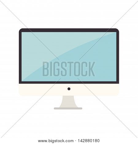 monitor pc computer screen device technology computer vector  isolated and flat illustration