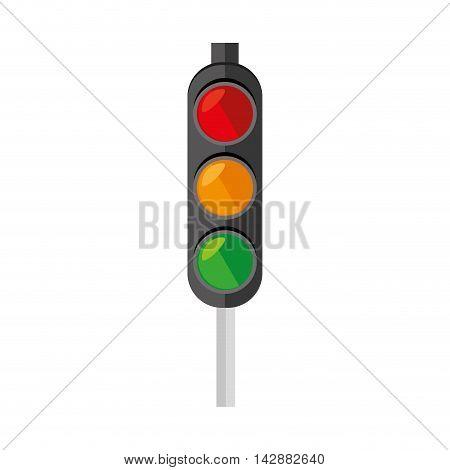 light traffic signal street stoplight transportation regulation vector  illustration isolated poster