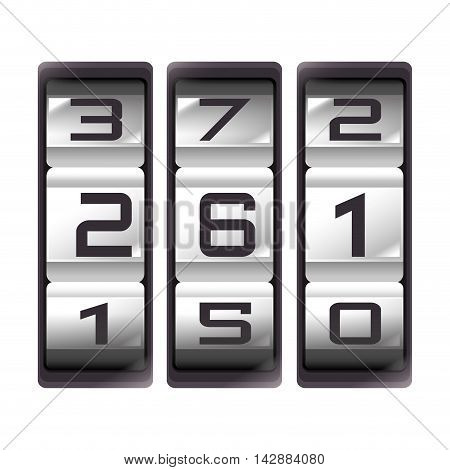 counter count down number result mechanic device vector  isolated and flat illustration