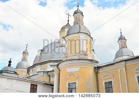 Resurrection Cathedral in Vologda Kremlin Russia. Resurrection Cathedral - the former Cathedral in Vologda built in the years 1772-1776 at the behest of Archbishop Joseph Vologda Golden Baroque.