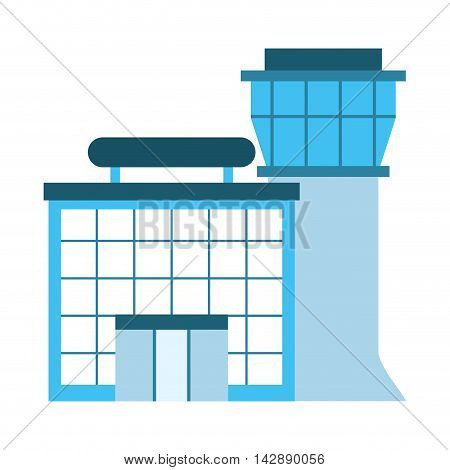 airport building tower control vector illustration design