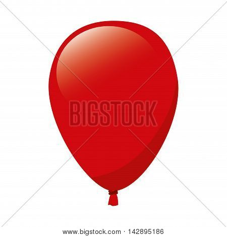 balloon red decoration party celebration air fly vector  illustration isolated