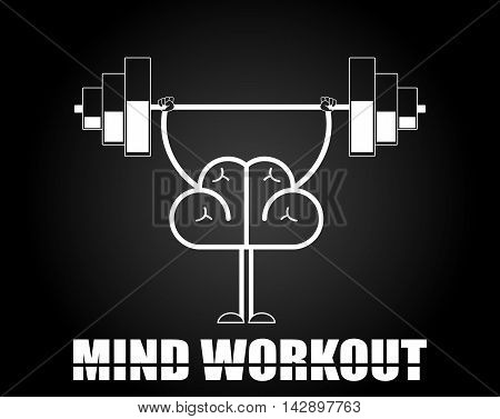 Brain training illustration. Creative concept of mind workout. Vector