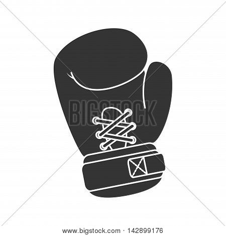 glove boxing protection sport fight punch professional vector illustration isolated