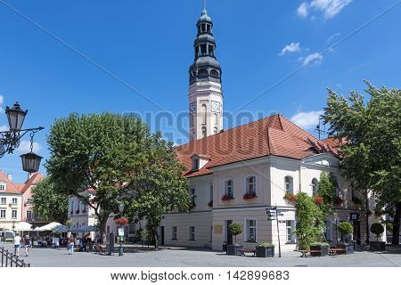 City Hall in Zielona Gora. The city has been known for its wines for centuries.