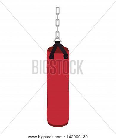 punching sack boxing training sansack hit knockout vector illustration isolated