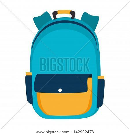 backpack school back pack student bag element object vector illustration isolated