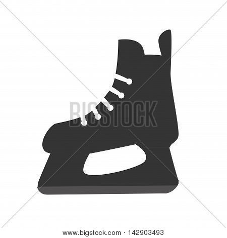 skating ice skate shoe hockey sport blade sport vector illustration isolated