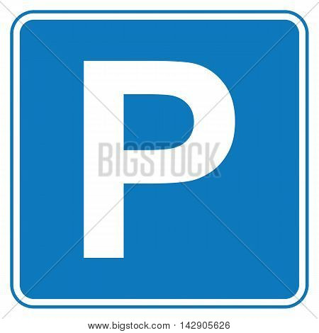 Flat icon traffic sign parking. Vector illustration.