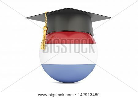 education and study in Netherlands concept 3D rendering isolated on white background