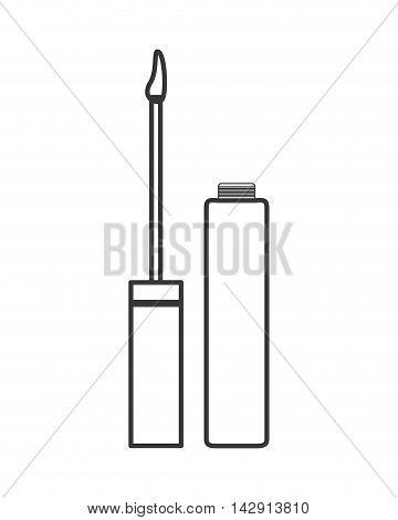 flat design lip cream or gloss icon vector illustration