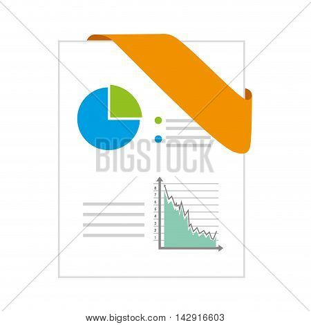ppt format chart corners data office business vector illustration isolated