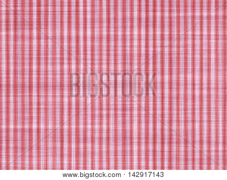 Red white stripes applied on a cotton cloth, artistic background