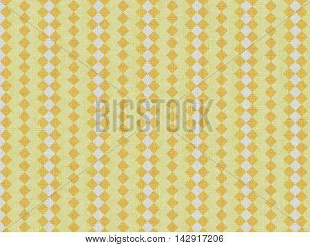 Yellow simple lightweight fabric, with a pattern of small descending squares