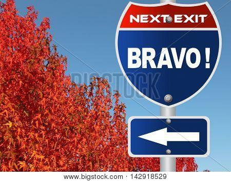 Bravo road sign