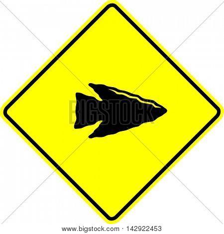stone arrow point sign
