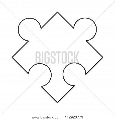 flat design puzzle piece icon vector illustration