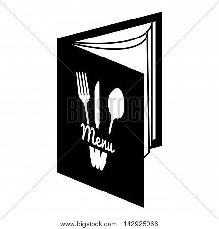 menu restaurant bistro brochure presentation plates food vector illustration isolated