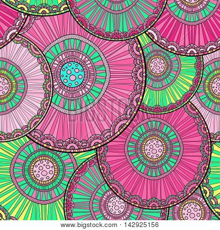 Doodleart Mandala Design. Hand Drawn Forest Background.