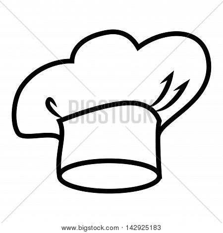 chef hat cooker kitchen cook food cap profession  vector illustration isolated