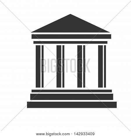 bank building banking financial economy money exterior courthouse vector illustration isolated