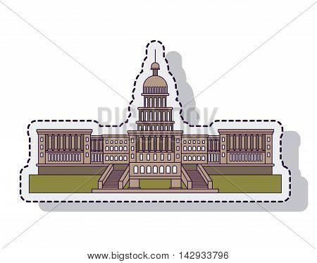 usa capitol building isolated vector illustration design