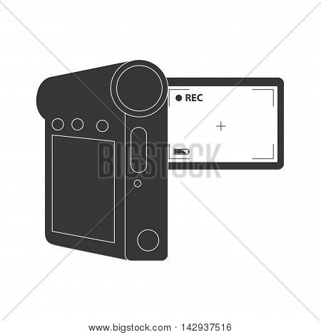 video camera record movie digital technology portable vector illustration isolated