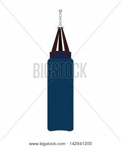 punching sack boxing training gym training hit knockout vector illustration isolated
