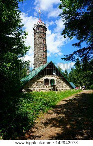 Watchtower Zlaty Chlum In Jeseniky Mountains