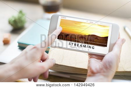 Streaming Multimedia Audio Entertainment Internet Concept poster